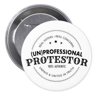 (l'ONU) Bouton professionnel de protestateur Badge