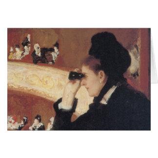 L'opéra par Mary Cassatt, impressionisme vintage Carte De Vœux