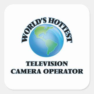 L'opérateur le plus chaud de caméra de télévision stickers carrés