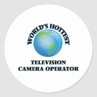 L'opérateur le plus chaud de caméra de télévision adhésif rond