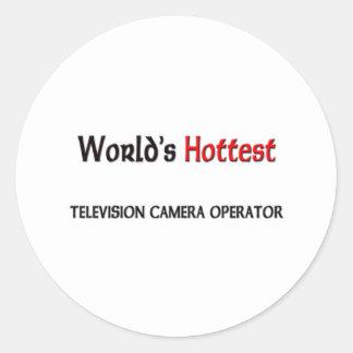 L'opérateur le plus chaud de caméra de télévision adhésifs ronds