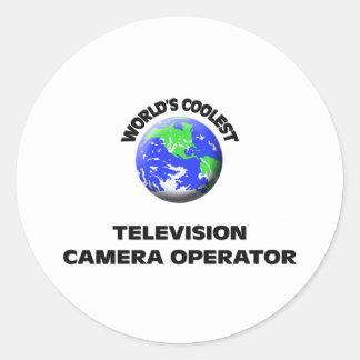 L'opérateur le plus frais de caméra de télévision adhésif rond