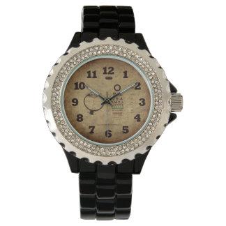 L'ophthalmologie perle la montre-bracelet vintage montres bracelet