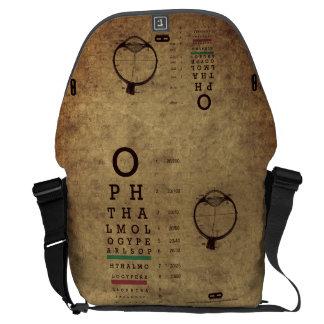 L'ophthalmologie perle le grand sac messenger à VA Sacoche