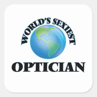 L'opticien le plus sexy du monde stickers carrés
