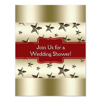 L'or brillant tient le premier rôle l'arrière - carton d'invitation 10,79 cm x 13,97 cm