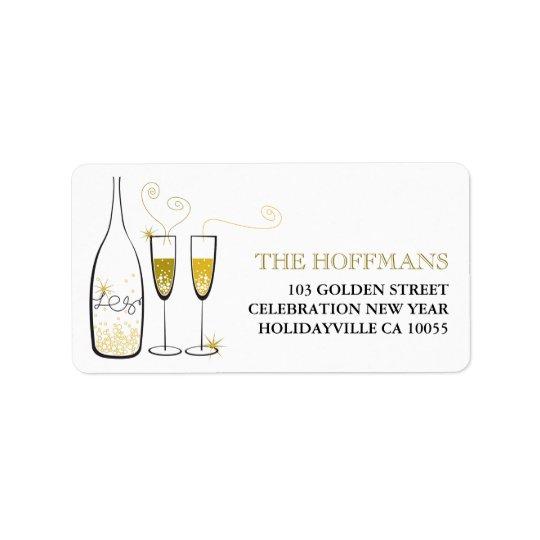 L'or Champagne encourage des étiquettes de adresse