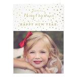 L'or chic pointille le carte photo de Joyeux Noël Invitations Personnalisées