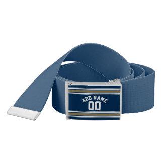 L'or de bleu marine du Jersey du football barre le