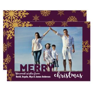 L'or effectue la carte de Noël d'arrière - plan de Carton D'invitation 12,7 Cm X 17,78 Cm