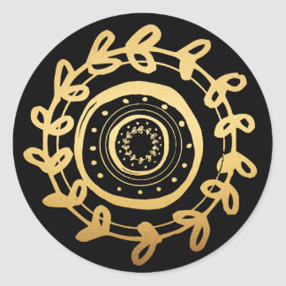 L'or et le noir ont décoré des autocollants d'oeuf