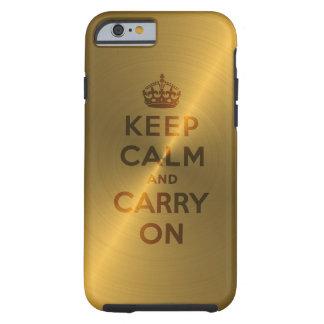 L'or gardent le calme et continuent coque iPhone 6 tough
