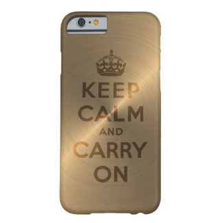 L'or gardent le calme et continuent coque iPhone 6 barely there