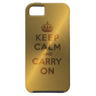 L'or gardent le calme et continuent coque Case-Mate iPhone 5