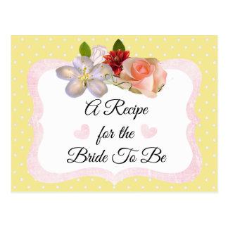 L'or jaune et rose rougissent carte rose de