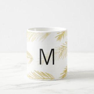 L'or laisse à monogramme de | le cadeau de tasse