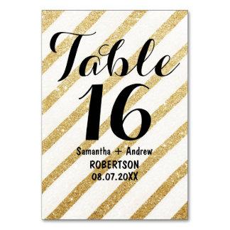 L'or moderne de traçages barre le nombre de table