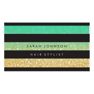 L'or noir barre des cartes de rendez-vous de carte de visite standard