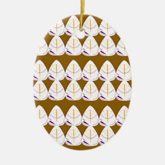 L'or part de l'art tiré par la main original ornement ovale en céramique