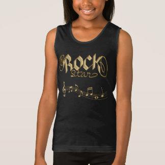L'or Rockstar badine le T-shirt de motivation ou