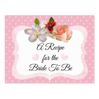 L'or rose et rose rougissent carte rose de recette
