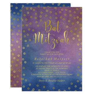 L'or tient le premier rôle le bat mitzvah carton d'invitation  12,7 cm x 17,78 cm