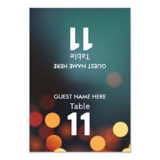 L'or turquoise Bokeh allume le nombre de Tableau Carton D'invitation 8,89 Cm X 12,70 Cm