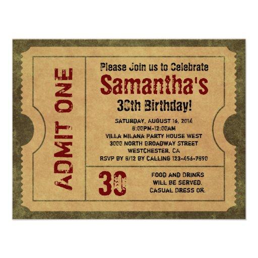 L'or vintage fait sur commande admettent des invit cartons d'invitation personnalisés
