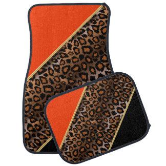 L'orange du poster de animal | de Jaguar | Tapis De Sol
