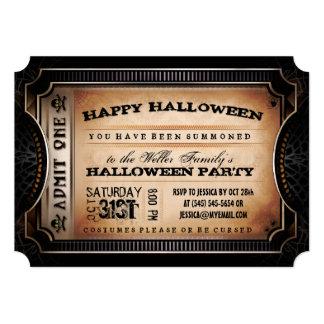 L'orange et le noir admettent un billet de partie carton d'invitation  12,7 cm x 17,78 cm