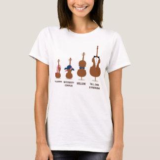 L'orchestre drôle ficelle des instruments t-shirt