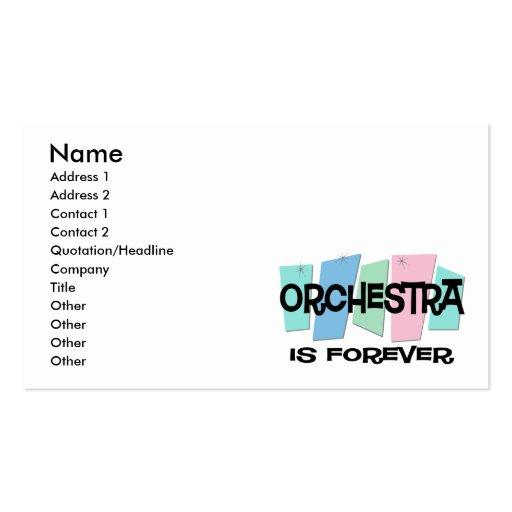 L'orchestre est Forever Modèles De Cartes De Visite