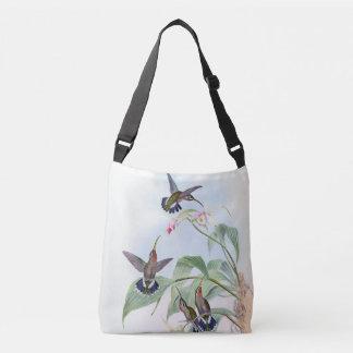 L'orchidée de faune d'oiseaux de colibri fleurit sac ajustable