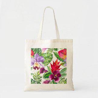 L'orchidée hawaïenne fleurit le sac fourre-tout