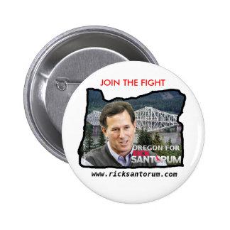 L'Orégon pour Rick Santorum Badges