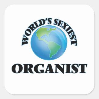 L'organiste le plus sexy du monde sticker carré