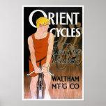 L'Orient fait un cycle le poster vintage par Penfi