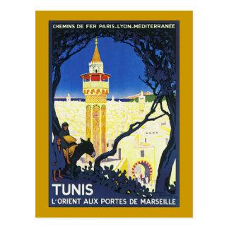 ~ L'Orient Portes aux. De Marseille de Tunis Carte Postale