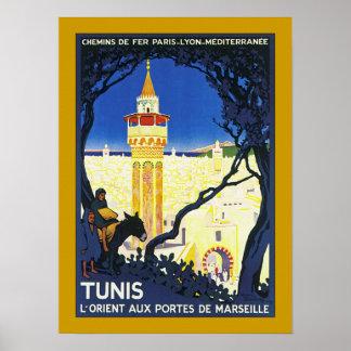 ~ L'Orient Portes aux. De Marseille de Tunis Posters