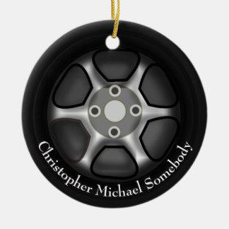 L'ornement | de roue de voiture ajoutent le nom ornement rond en céramique