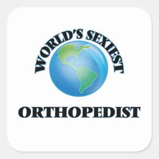 L'orthopédiste le plus sexy du monde autocollant carré