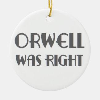 l'orwell était exact ornement rond en céramique