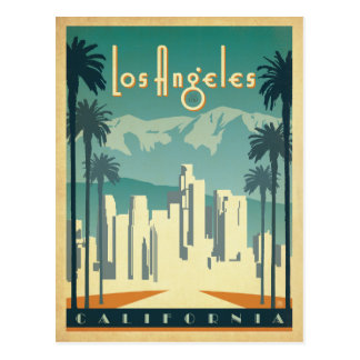 Los Angeles, CA 2 Cartes Postales