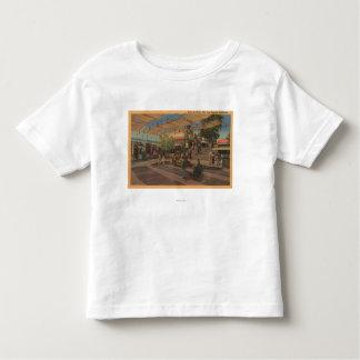 Los Angeles, CAView de plaza dans Chinatown T-shirt Pour Les Tous Petits