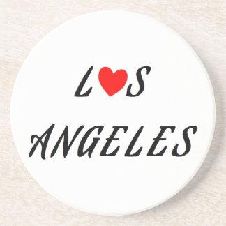 Los Angeles coeur rouge Dessous De Verre
