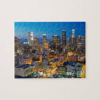 Los Angeles du centre au crépuscule Puzzle