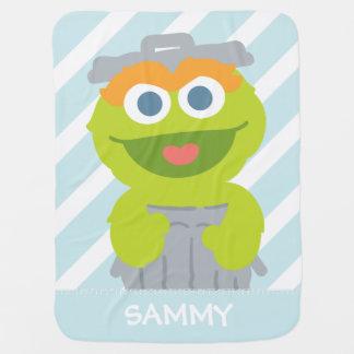 L'oscar le bébé   de rouspéteur ajoutent votre nom couverture pour bébé
