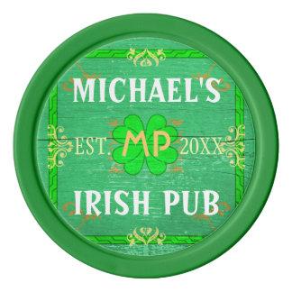 Lot De Jeton De Poker Barre à la maison personnalisable : Pub irlandais