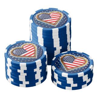 Lot De Jeton De Poker Coeur américain