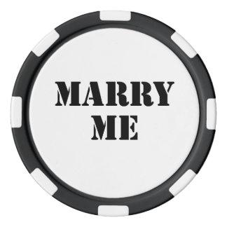 Lot De Jeton De Poker Épousez-moi